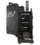 Amplivox SW915 Digital Audio Travel Partner 250 Watt Amplifier, 3 Combo XLR/Mic Input Jacks, Speakers and 8 CH UHF Receiver