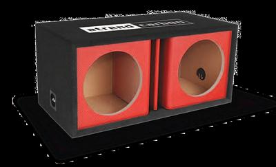 Atrend 10DVR-RED Dual 10 Inch Vented Carbon Colors Subwoofer Box