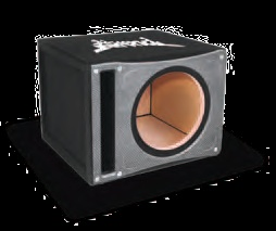 Atrend BP-12SV Single 12 Inch Vented BLACK PEARL Slammer SPL Subwoofer Box 1 Inch MDF