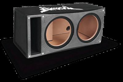 Atrend bpi 12dv dual 12 black ice vented custom subwoofer for Bbox atrend enclosures 12