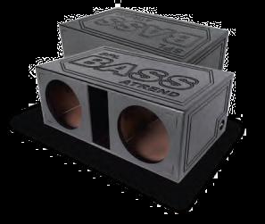 Atrend Spl 15dv Dual 15 Ported Super Bass Spl Subwoofer Box With