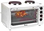 Avanti OCRB43W Convection Oven Rotisserie With 2 Built-In Cook Top Burners