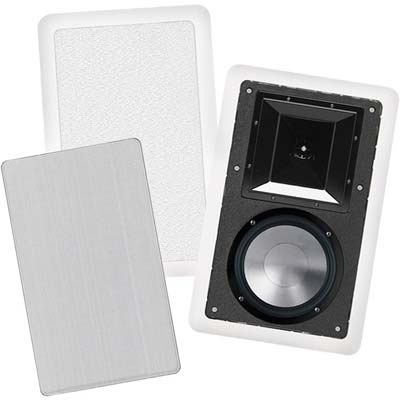BIC FH6-W 6.5 Inch 2 Way In-Wall Speakers With Mid/High Frequency Horns