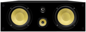 BIC VK-6LCR 6.5 Inch 3-WAY KEVLAR BLACK LACQUER ON-WALL LCR SPEAKER