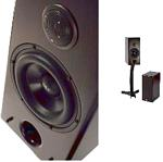 "CDT Audio Sonawall Monitor 6.5"" 2 Way Audiophile Solid Oak Bookshelf Speaker"