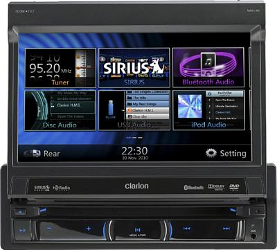 CLARION NZ503 Single DIN  7 Inch Touchscreen AV Receiver With Navigation and Bluetooth 4V Hi Volt RCA Outputs