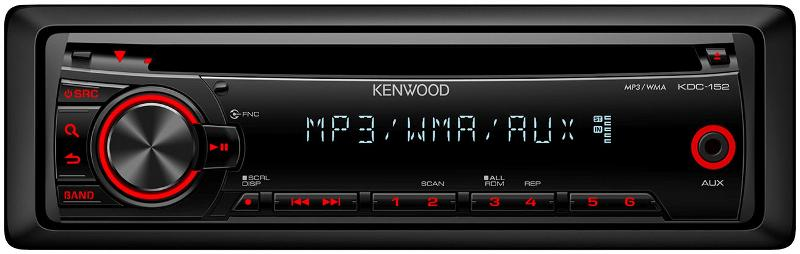 Kenwood KDC-252U CD / MP3 / WMA Receiver with FRONT