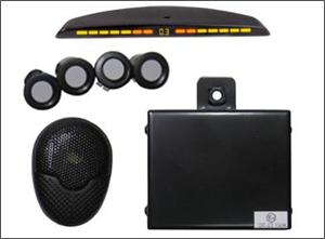 Crimestopper BackStopper CA-5018 Front Parking Assist System with Front Mount, Slim LED Display with Paintable Sensors