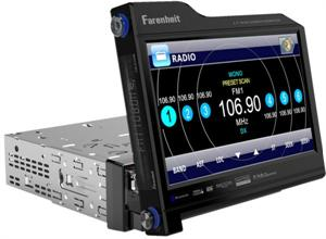 Farenheit TID-831NRB Single Din 8.3 Flip-Up Touch Screen DVD/LCD A/V Receiver with Bluetooth 2.0 / A2DP
