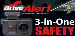 Power Acoustik DRIVE ALERT 3 In 1 Front Collision Warning, Lane Departure Warning and Black Box Recorder