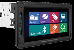 Farenheit Oversized Motorized 7 LCD Receiver Single Din Detachable Face