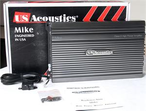 US Acoustics MIKE 1500 RMS at 1 Ohm Class D Mono Subwoofer Amplifier