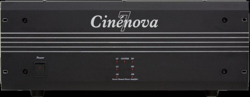 Earthquake Cinenova 7 7 x 170  Watts RMS @ 8 Ohms Audiophile Home Theater Amplifier XLR Inputs