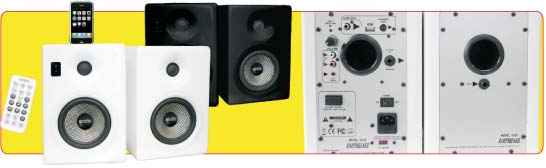 Earthquake IQ-52B iQuake 2.1 5.25 Inch 2 Way Speaker System for iPod and Portable Media Black
