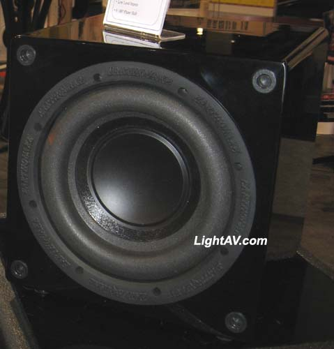 Earthquake MiniMe FF8 8 Inch 320 Watt Compact Front Firing Powered Subwoofer Piano Black Laquer Finish