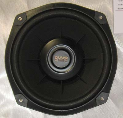 Earthquake SWS-8Xi 8 Inch Shallow Mount Subwoofer 2 Ohm /each