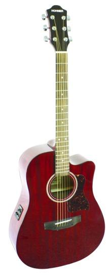 hohner ho hw300cetwr mahogany dreadnought acoustic electric guitar. Black Bedroom Furniture Sets. Home Design Ideas