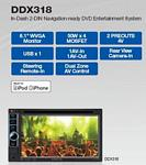 Kenwood DDX-318 6.1 Inch LCD 2 DIN DVD RECEIVER MOBILE VIDEO