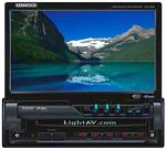 Single DIN 7 Inch Motorized Touchscreen Full Featured DVD Entertainment System