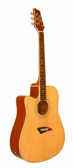 kona k1el k1e left handed cutaway acoustic electric guitar natural gloss. Black Bedroom Furniture Sets. Home Design Ideas