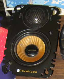 Planet Audio P4652X 4X6 Inch 2 way Plate Speaker
