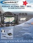 Myron Davis NV7NAT1 7 Inch Nissan Altima Vehicle Specific In-Dash Navigation with Bluetooth