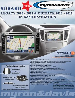 Myron Davis NV7SLG1 7 Inch Subaru Legacy / Outback Vehicle Specific In-Dash Navigation with Bluetooth