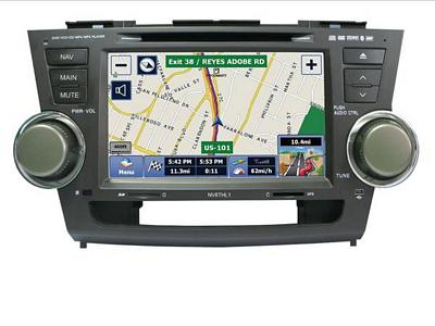 Myron Davis NV8THL1 8 Inch 2008-2011 Toyota Highlander Vehicle Specific In-Dash Navigation with Bluetooth