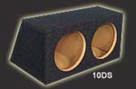 Atrend 10DS Dual 10 Inch Sall Sealed Hatchback Subwoofer Box .77 Cu Ft Per Sb