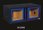 Atrend 12DVK-BLUE Dual 12 Inch Vented Carbon Colors Subwoofer Box Square Cutout
