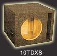 Atrend 10TDXS Single 10 Inch Vented Subwoofer Box