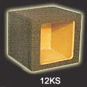 Atrend 12KS Single 12 Inch Sealed Subwoofer Box Square Cutout 1.4 Cu Ft Kicker