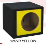 Atrend 15SVR-YELLOW Single 15 Inch Vented Carbon Colors Subwoofer Box