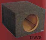 Atrend 10W7S 10 Inch Single Sealed Subwoofer Box JL AUDIO W7 1.00 Inch MDF