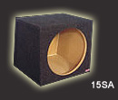Atrend 12SA Single 12 Inch Small Sealed Subwoofer Box .93 Cu Ft