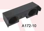 Atrend A172-10 Dual 10 Inch Down Fire 04+ GM COLORADO / CANYON Subwoofer Box Bedliner Finish