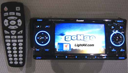 Farenheit AVN-421 4.3 Inch Touch Screen DVD/LCD In-Dash Fully Motorized Receiver with Navigation/DVD/AM/FM PAVN-4210