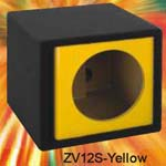 Atrend ZV12S-YL Single 12 Inch Vented Kandy LIME YELLOW Subwoofer Box