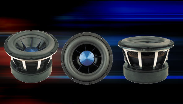 Power Acoustik MOFO-10 MOFO Series Woofers with Ribbed Cone Insert /ea