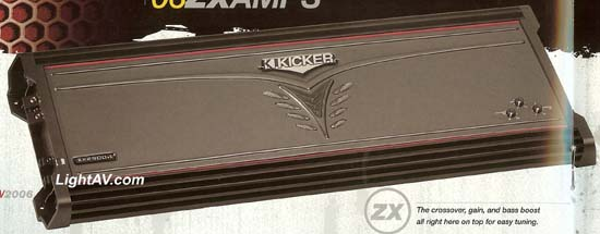 Kicker ZX1500.1 ZX Series 1500 Watt Mono Subwoofer Amplifier