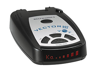 BEL V-995 Vector 995 Radar Detector with Selectable Bands and Voice Alerts