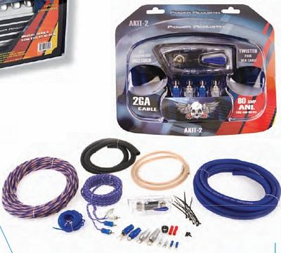 Power Acoustik AKIT-2 2 Gauge 2500 Watt Amp Kit