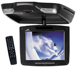 Power Acoustik PMD-83CM 8 Inch Ceiling Mount Flip Down Monitor with DVD Player DM-8301CM