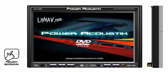 Power Acoustik PTID-7250NR 7 Inch Wide Touch Screen Double-din In-Dash Motorized TFT Monitor/DVD/AM/FM, Navigation Ready
