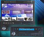 "Power Acoustik PTID-8200 In-Dash 7"" Touch Screen Fully Motorized AM/FM DVD/CD Player USB/SD Card"