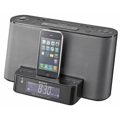sony icfcs10ipblk dual alarm clock am fm radio with ipod iphone dock. Black Bedroom Furniture Sets. Home Design Ideas