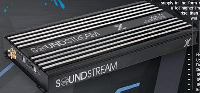 SoundStream X3.60 Competition 3000 Watt RMS @ 1 Ohm Class D Mono Subwoofer Amplifier