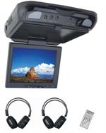 Myron Davis AMSA104GY 10.4 LCD / DVD Ceiling Mount Flip Down with Aux Input and Headphones Gray