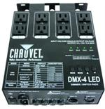 CHAUVET DMX-4 LED 4 Channel Dimmer / Relay Pack , Optimized for LED Fixtures