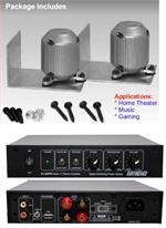 Earthquake MQB-1 K 2 x Mini Quake Mini Shaker / Transducer KIT with XJ-300FR 300W Amplifier for Home, Car, Industrial and Gaming PAIR